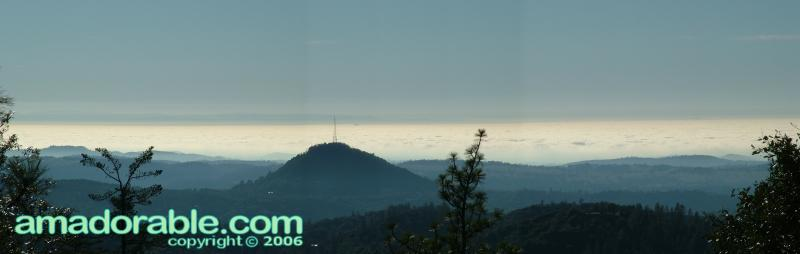 View from Mt. Zion - Fog-shrouded valley - Panorama