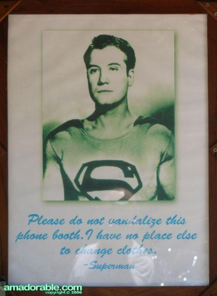 Superman's Booth - Closeup